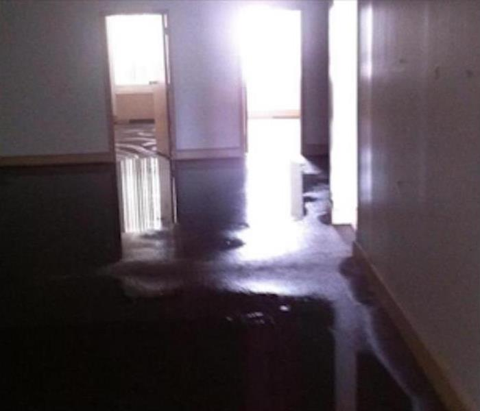 Water Damage – Woodstock Office Space Before